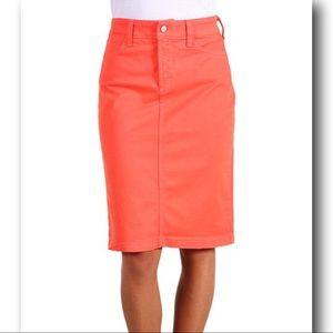 NYDJ Tummy Tuck Persimmon Orange Skirt Plus Size